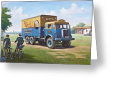 Circus Truck Greeting Card by Mike  Jeffries