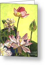 Citron Lotus 1 Greeting Card by Debbie DeWitt