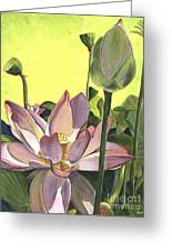 Citron Lotus 2 Greeting Card by Debbie DeWitt