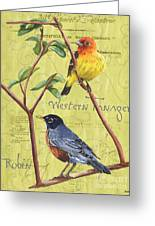 Citron Songbirds 2 Greeting Card by Debbie DeWitt
