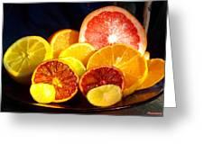 Citrus Season Greeting Card by Anastasia Savage Ealy