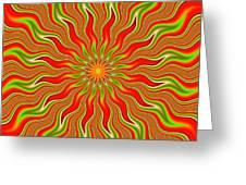Citrus Sunshine Greeting Card by Faye Giblin