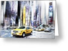 City-art Times Square II Greeting Card by Melanie Viola