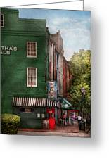 City - Baltimore - Fells Point Md - Bertha's And The Greene Turtle Greeting Card by Mike Savad