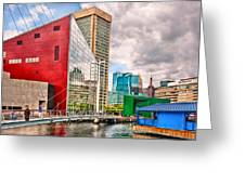 City - Baltimore Md - Harbor Place - Future City  Greeting Card by Mike Savad