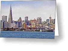 City By The Bay Greeting Card by Sindi June Short