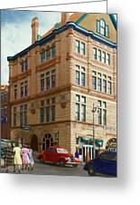 City - Chattanooga Tn - 1943 - The Masonic Temple Greeting Card by Mike Savad