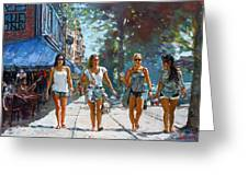 City Girls Greeting Card by Ylli Haruni
