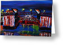 City Light Over Morrison Bridge 7 Greeting Card by James Dunbar