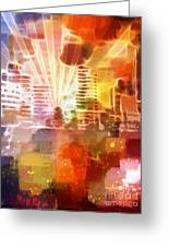 City Lights 1 Greeting Card by Artwork Studio