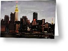 City Lights Greeting Card by Marcos Lara