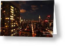City Living Greeting Card by Andrew Paranavitana