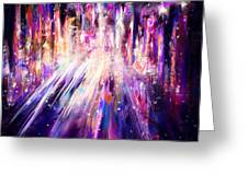 City Nights City Lights Greeting Card by Rachel Christine Nowicki