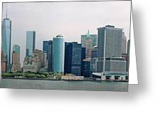 City - Ny - The Financial District Greeting Card by Mike Savad