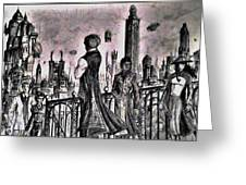 City Of Babel  Greeting Card by George Harrison
