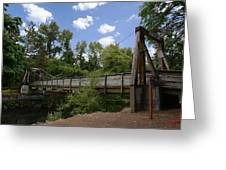 City Of Dallas Park Bridge Greeting Card by Charles Fennen