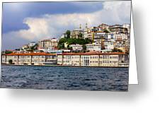 City Of Istanbul Cityscape Greeting Card by Artur Bogacki