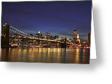 City Of Lights Greeting Card by Evelina Kremsdorf