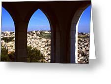 City Of Nazareth Greeting Card by Thomas R Fletcher