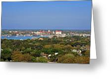 City Of St Augustine Florida Greeting Card by Christine Till