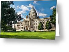 City - Providence Ri - The Capitol Greeting Card by Mike Savad