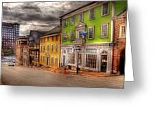 City - Providence Ri - Thomas Street Greeting Card by Mike Savad