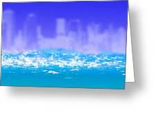 City Rain Greeting Card by Bob Orsillo