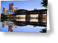 City Reflections Greeting Card by Emmanuel Panagiotakis