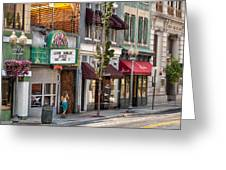 City - Roanoke Va - Down One Fine Street  Greeting Card by Mike Savad