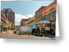 City - Roanoke Va - The City Market Greeting Card by Mike Savad