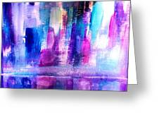 Cityscape Greeting Card by Nikki Dalton