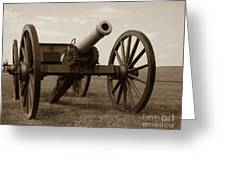 Civil War Cannon Greeting Card by Olivier Le Queinec