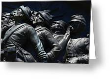 Civil War Figures Greeting Card by Paul W Faust -  Impressions of Light