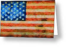 Civil War Flag Greeting Card by Dan Sproul