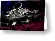 Clarinet Still Life Greeting Card by Tom Mc Nemar