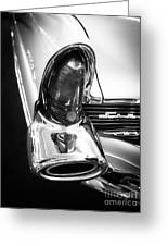Classic Car Tail Fin Greeting Card by Edward Fielding