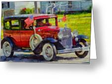 Classic Cars American Tradition Greeting Card by Dan Sproul