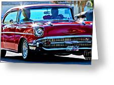 Classic Chevrolet Greeting Card by Tap  On Photo