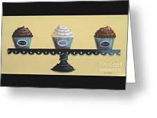 Classic Cupcakes Greeting Card by Catherine Holman