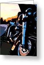 Classic Harley Greeting Card by Michael Pickett