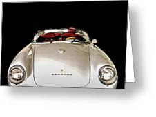 Classic Porsche Silver Convertible Sports Car Greeting Card by Edward Fielding