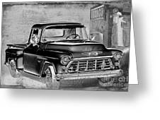 Classic Ride Greeting Card by Betty LaRue