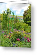 Claude Monet House And Garden At Giverny Greeting Card by Heidi Hermes