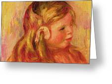 Claude Renoir Greeting Card by Pierre Auguste Renoir