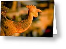 Clay Cockerel Bhaktapur Greeting Card by Raimond Klavins