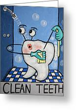 Clean Tooth Greeting Card by Anthony Falbo