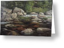Clear Creek Greeting Card by Mar Evers