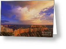 Clearing Storm Cape Royal North Rim Grand Canyon Np Arizona Greeting Card by Dave Welling