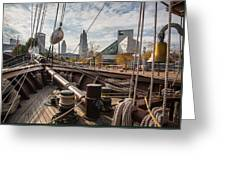 Cleveland From The Deck Of The Peacemaker Greeting Card by Dale Kincaid