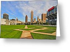 Cleveland Skyline Greeting Card by Frozen in Time Fine Art Photography